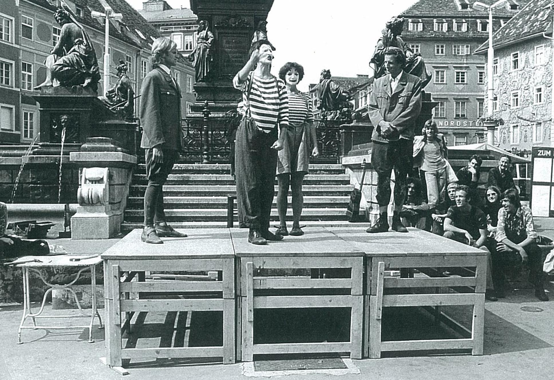 """Theatergruppe """"Kukuruz"""" Graz 1974"""